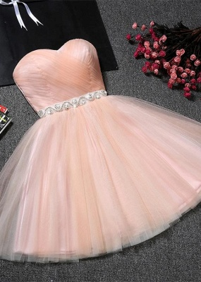 Lovely Sweetheart Prom Dress UK | Tulle Lace-Up Short Homecoming Dress UK_1