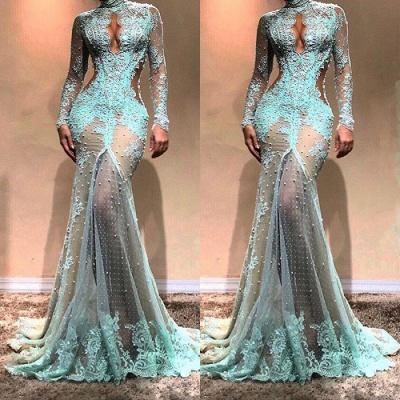 Luxury Long Sleeve Mermaid Evening Dress UK | Lace Formal Dress UK_3