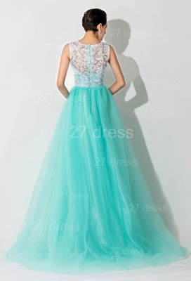 Gorgeous Illusion Lace Sleeveless Evening Dress UK Zipper Button Back_4