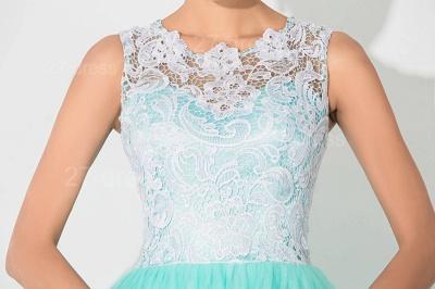 Gorgeous Illusion Lace Sleeveless Evening Dress UK Zipper Button Back_2