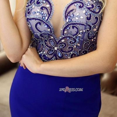 Mermaid Vintage Side-Slit Scoop Sleeveless Beading Prom Dress UKes UK_2