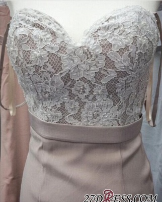 Beading Lace Pink Sweetheart-Neck Mermaid Pearls Prom Dress UKes UK LY201_3