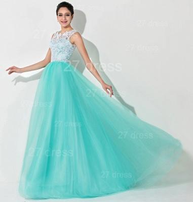 Gorgeous Illusion Lace Sleeveless Evening Dress UK Zipper Button Back_3