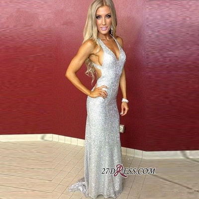 Mermaid Long Sequined Sleeveless Newest Straps Prom Dress UK_1