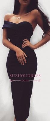 shealth Black Sweatheart Tea-length Sexy Homecoming Dress UK_1