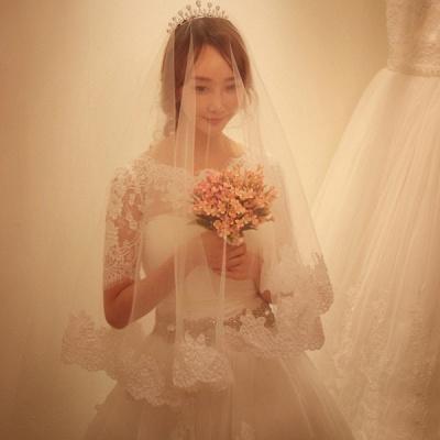 Elegant Half-Sleeve Tulle Lace Wedding Dresses UK A-Line With Crystal_5