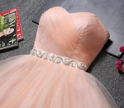 Lovely Sweetheart Prom Dress UK | Tulle Lace-Up Short Homecoming Dress UK_4