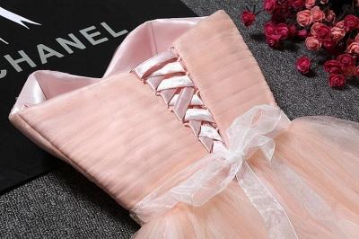 Lovely Sweetheart Prom Dress UK | Tulle Lace-Up Short Homecoming Dress UK_6