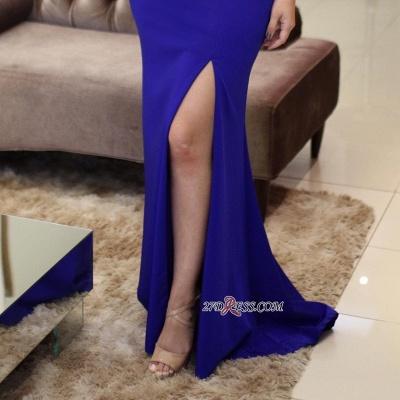 Mermaid Vintage Side-Slit Scoop Sleeveless Beading Prom Dress UKes UK_1