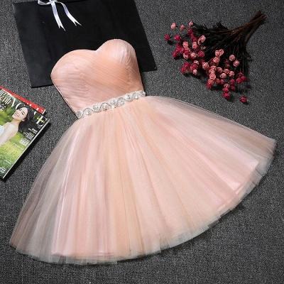Lovely Sweetheart Prom Dress UK | Tulle Lace-Up Short Homecoming Dress UK_3