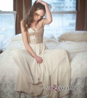 Sleeveless Simple A-Line Sequins Spaghetti-Straps Prom Dress UKes UK_1