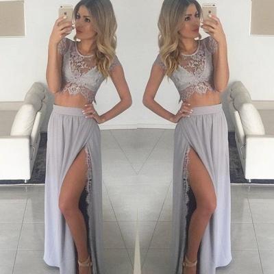Luxury Two Pieces Lace Prom Dress UKes UK Front Split Long BA3264 AU0_3