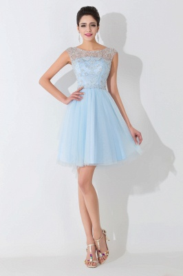 Gorgeous Illusion Sleeveless Short Cocktail Dress UK With Crystals_1