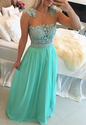 Gorgeous Chiffon Long Prom Dress UK With Pearls And Lace BT0_4