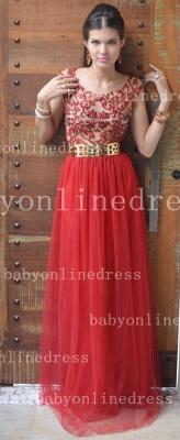 Evening Elegant Red Prom Dress UKes UK New Fashion Dress UKes UK Cap Sleeves Vestidos Female Formal Tulle Bead Dress UKes UK_1