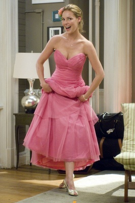 Sweetheart Lovely Bridesmaid Dress UK on Sale Wholesale Pink Floor-length Organza Gowns_1