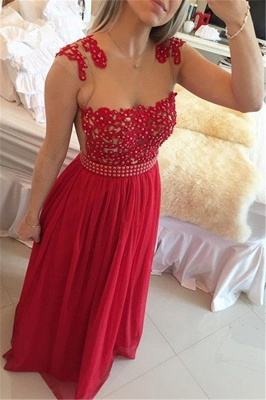 Gorgeous Chiffon Long Prom Dress UK With Pearls And Lace BT0_1