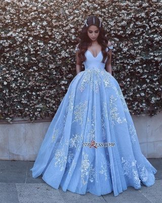 Off-the-shoulder Sexy Lace Floor-Length Evening Dress UK PT0375_4