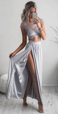 Luxury Two Pieces Lace Prom Dress UKes UK Front Split Long BA3264 AU0_4
