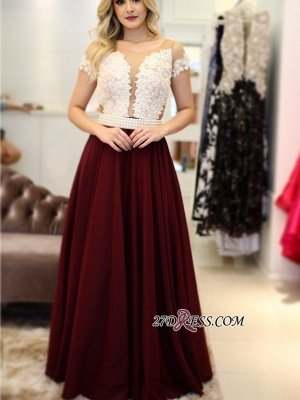 Burgundy prom Dress UK, pearls long evening Dress UK_5
