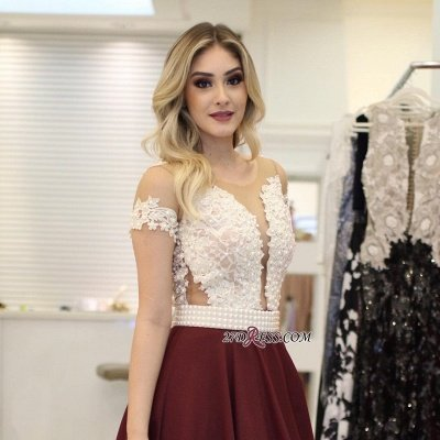 Burgundy prom Dress UK, pearls long evening Dress UK_3