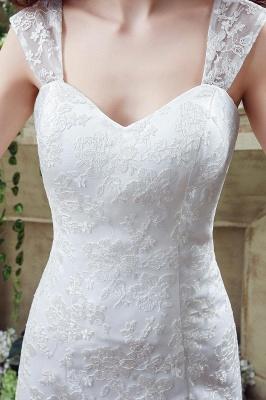 Elegant Lace Sweetheart A-line Wedding Dress Sweep Train Lace-up_3