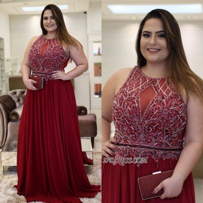 Burgundy chiffon prom Dress UK, plus size evening Dress UK_4