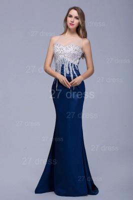 Newest Illusion Beadings Crystals Mermaid Evening Dress UK Floor-length_1