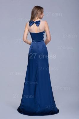Newest Illusion Beadings Crystals Mermaid Evening Dress UK Floor-length_4