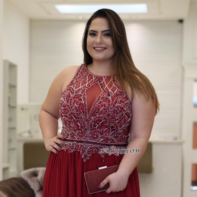 Burgundy chiffon prom Dress UK, plus size evening Dress UK_3