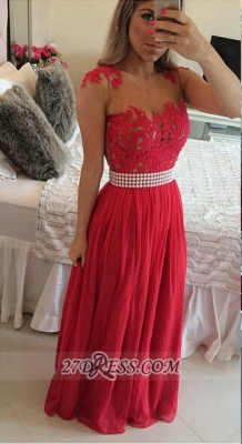 Sexy Chiffon Long Red Prom Dress UK With Pearls And Lace Appliques BT0_1