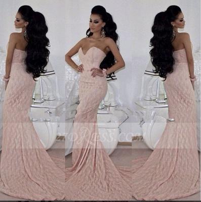 Chiffon Mermaid Prom Dress UKes UK Sweetheart Luxury Evening Sleeveless Pink Appliques Gowns Sweep Train_3