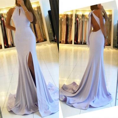 Halter Backless Evening Dress UK   Backless Prom Dress UK With Slit BA7367_3