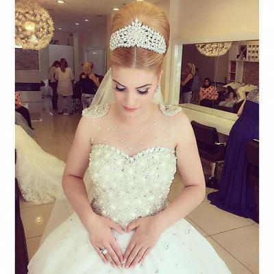Elegant Beads Tulle Wedding Dress Ball Gown Floor-length MH052_2
