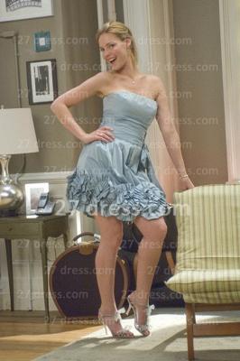 Beautiful Bridesmaid Dress UK for Sale Simple Gowns on Strapless Mini Taffeta Bridesmaid_2