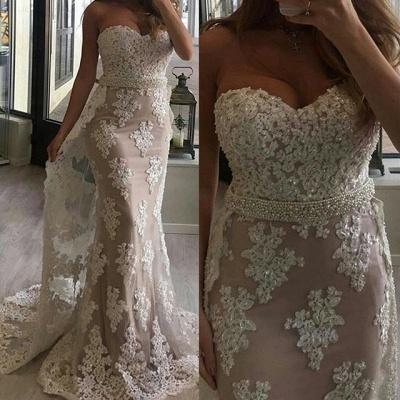 Gorgeous Sweetheart Mermaid Lace Evening Dress UK Ruffles Long Party Dress UK BA7357_3
