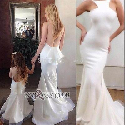 Elegant Sleeveless Backless Mermaid Prom Dress UK With Ruffles_2