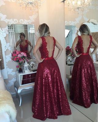 Gorgeous Lace Appliques A-line Prom Dress UK Sequins Beadings_2