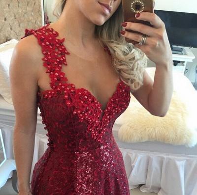 Gorgeous Lace Appliques A-line Prom Dress UK Sequins Beadings_3