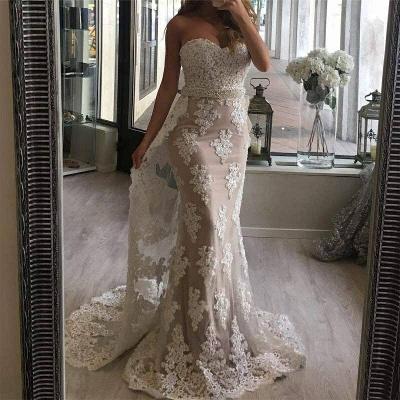 Gorgeous Sweetheart Mermaid Lace Evening Dress UK Ruffles Long Party Dress UK BA7357_4