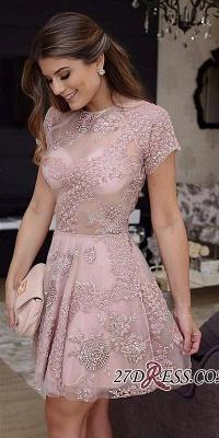 Short lace prom Dress UK, homecoming Dress UK_3