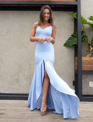 Sexy Sweetheart Mermaid 2019 Evening Dress UK | Prom Party Dress UK With Slit On Sale_1