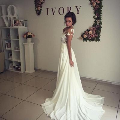 Elegant Lace Appliques Wedding Dress Long  Split_6