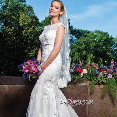 Sexy Mermaid Gorgeous Sleeveless Lace Button Zipper Wedding Dress_1