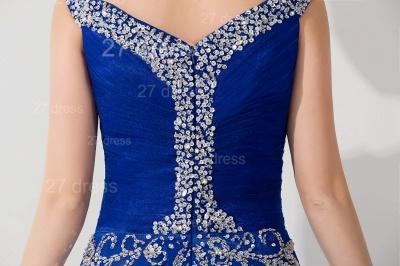 Modern Lace Appliques Mermaid Evening Dress UK V-neck Sweep Train_4