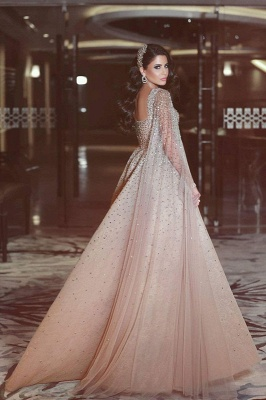 Luxurious Ruffles Crystal Evening Dress UK Sweetheart Long Party Gowns_3