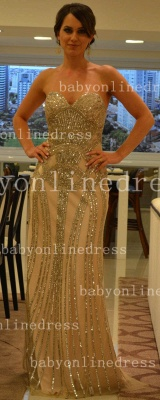 Chiffon Sheer Formal Evening Gowns Dress UKes UK with Vestidos De Prom Sweetheart Vestidos Female Tulle Top Beaded_1