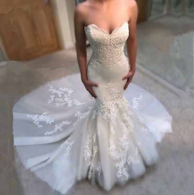 Gorgeous Sweetheart Lace Wedding Dress   2019 Sexy Mermaid Bridal Gowns BA9780_3