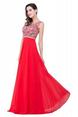 Elegant Red Long Crystal Beadings Prom Dress UK Chiffon_6