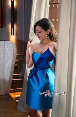 Zipper High-Neck Sleeveless Elegant Mini Bow Homecoming Dress UK_2